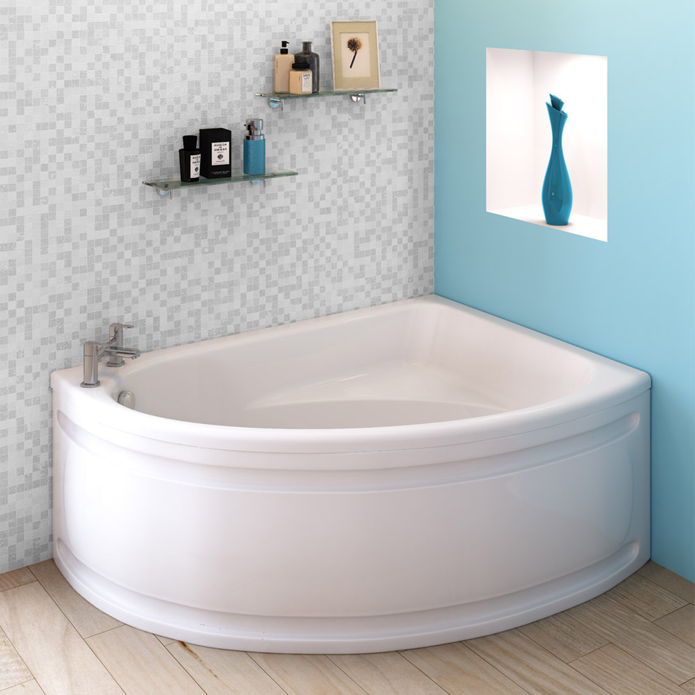 Orlando Corner Bath with Panel (Right Hand Option 1500 x 1040mm) Large Image