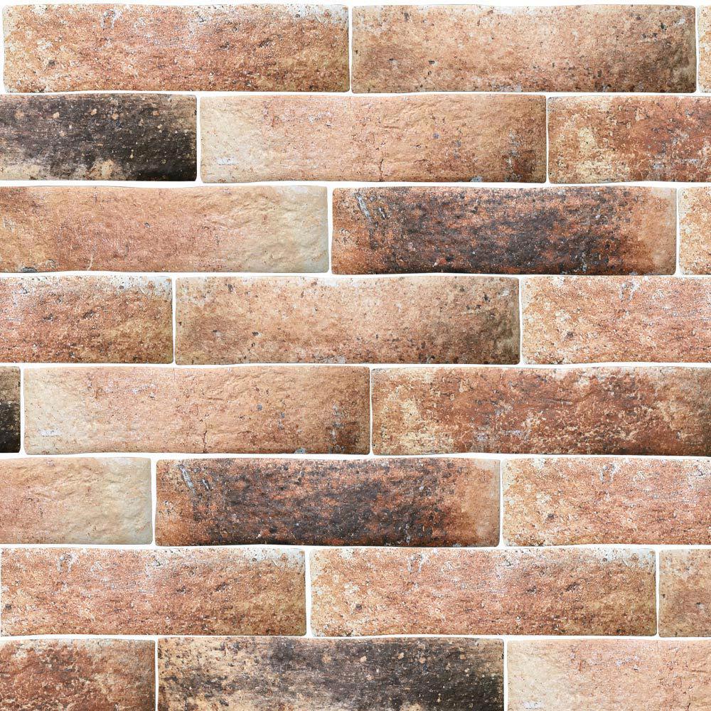 Orlando Ocre Porcelain Wall Tile - 75 x 300mm Large Image