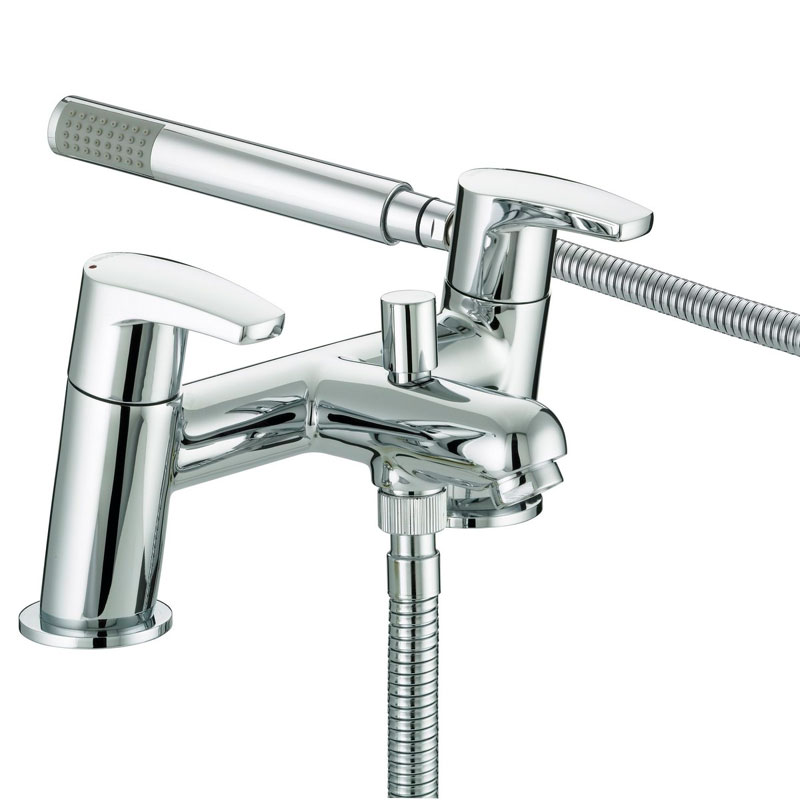 Bristan - Orta Bath Shower Mixer - Chrome - OR-BSM-C Large Image