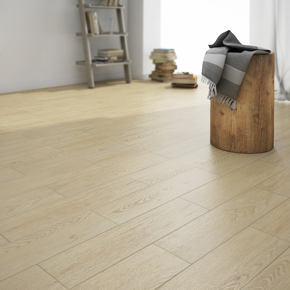Oslo Light Wood Tiles - Wall and Floor - 150 x 600mm Large Image