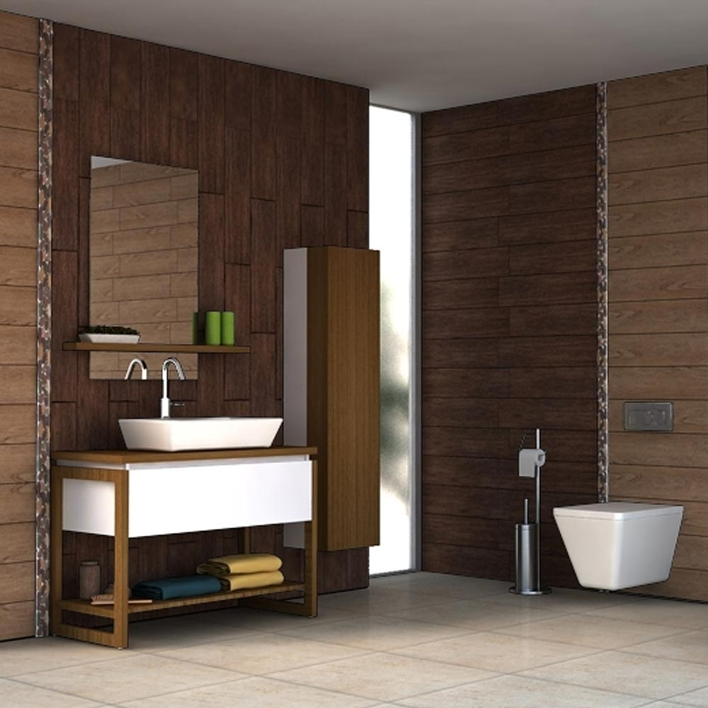 Oslo Dark Wood Tiles - Wall and Floor - 150 x 600mm Profile Large Image