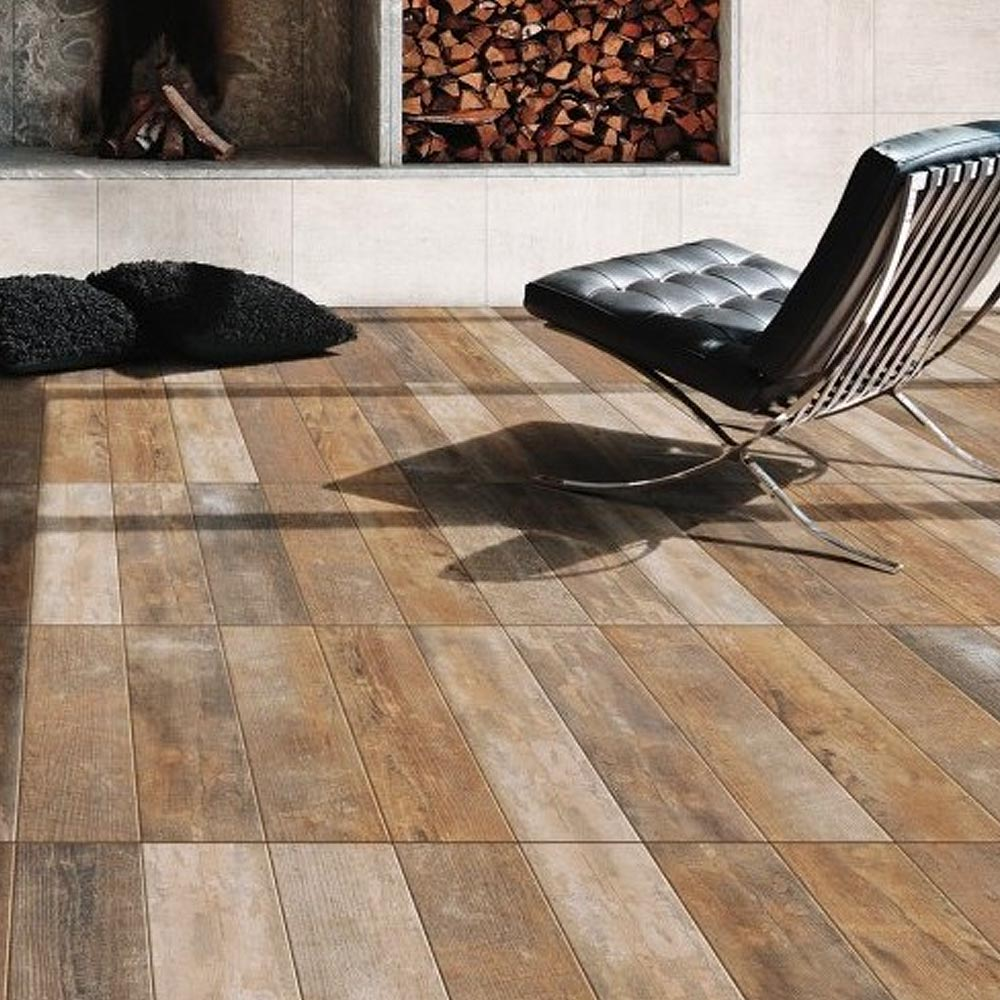 Oslo Vintage Wood Tiles - Wall and Floor - 150 x 600mm Profile Large Image