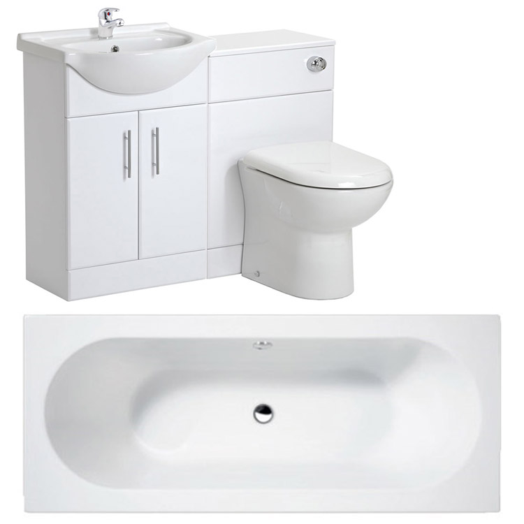 Otley 5 Piece Vanity Unit Bathroom Suite Large Image