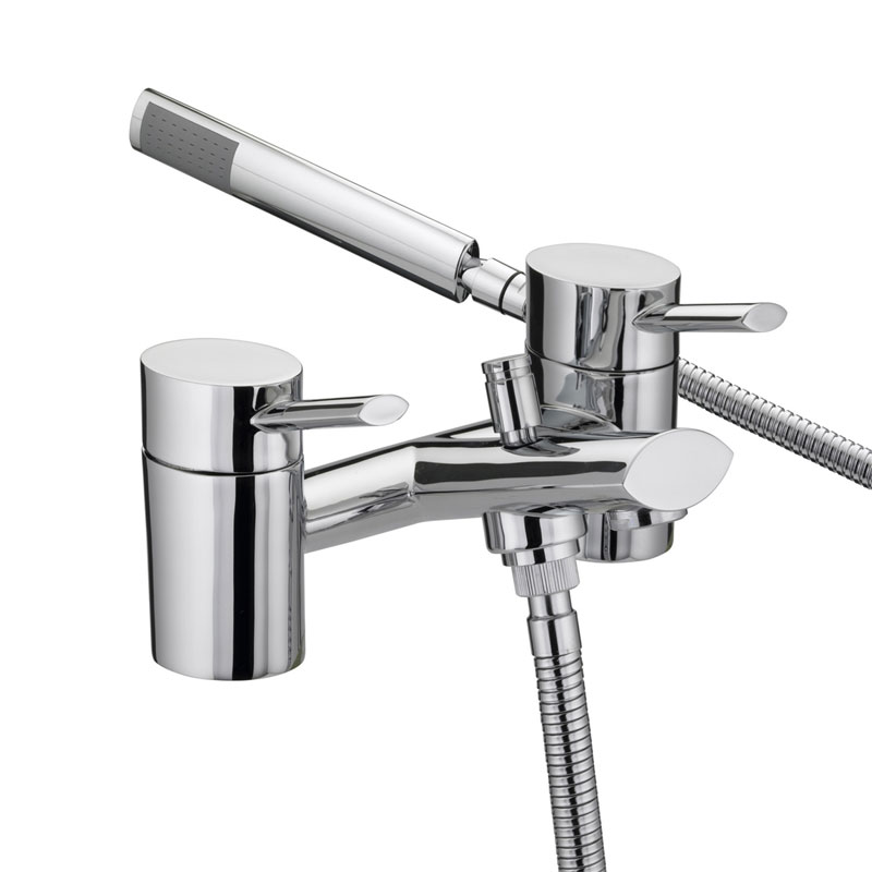 Bristan - Oval Bath Shower Mixer - Chrome - OL-BSM-C Large Image