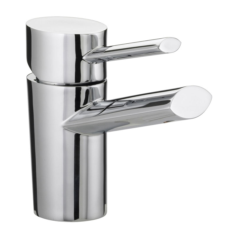 Bristan - Oval Basin Mixer with Eco-Click (no waste) - Chrome - OL-EBASNW-C Large Image