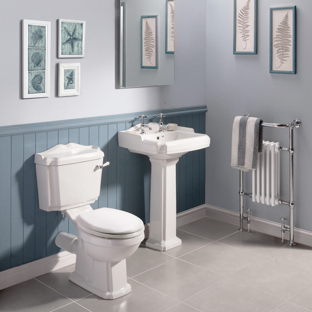 Oxford 5 Pc Bathroom Suite with Luxury Belmont Crosshead Taps