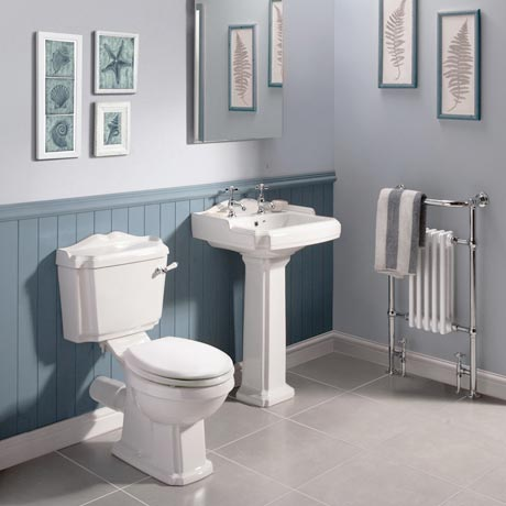 Oxford 5 Piece 2TH Traditional Ceramic Bathroom Suite