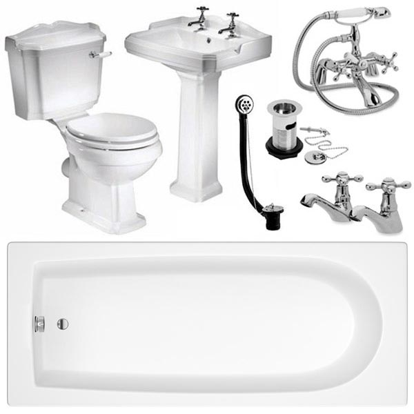 Oxford Complete Traditional Bathroom Package Large Image