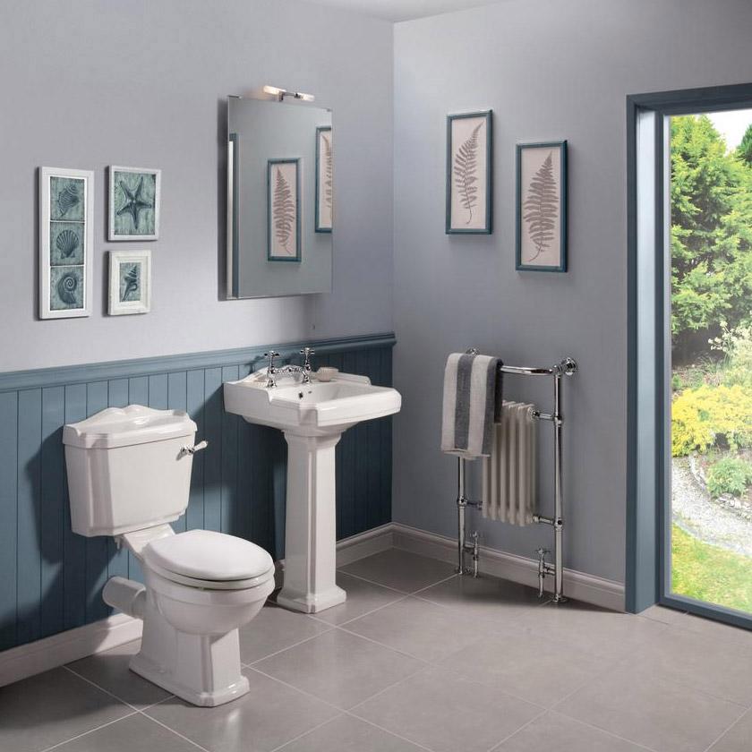 Oxford Traditional Free Standing Single Ended Roll Top Bath Suite profile large image view 3