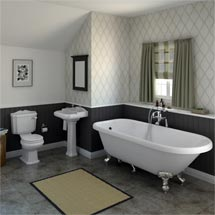 Oxford Traditional Free Standing Single Ended Roll Top Bath Suite Medium Image