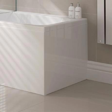 P Shape Shower Bath Acrylic End Panel - 700mm
