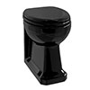 Burlington Jet Black Back To Wall Pan - P14-JET profile small image view 1
