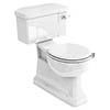 Burlington Concealed S Trap Bottom Outlet Close-Coupled WC with 520mm Ceramic Lever Cistern profile small image view 1