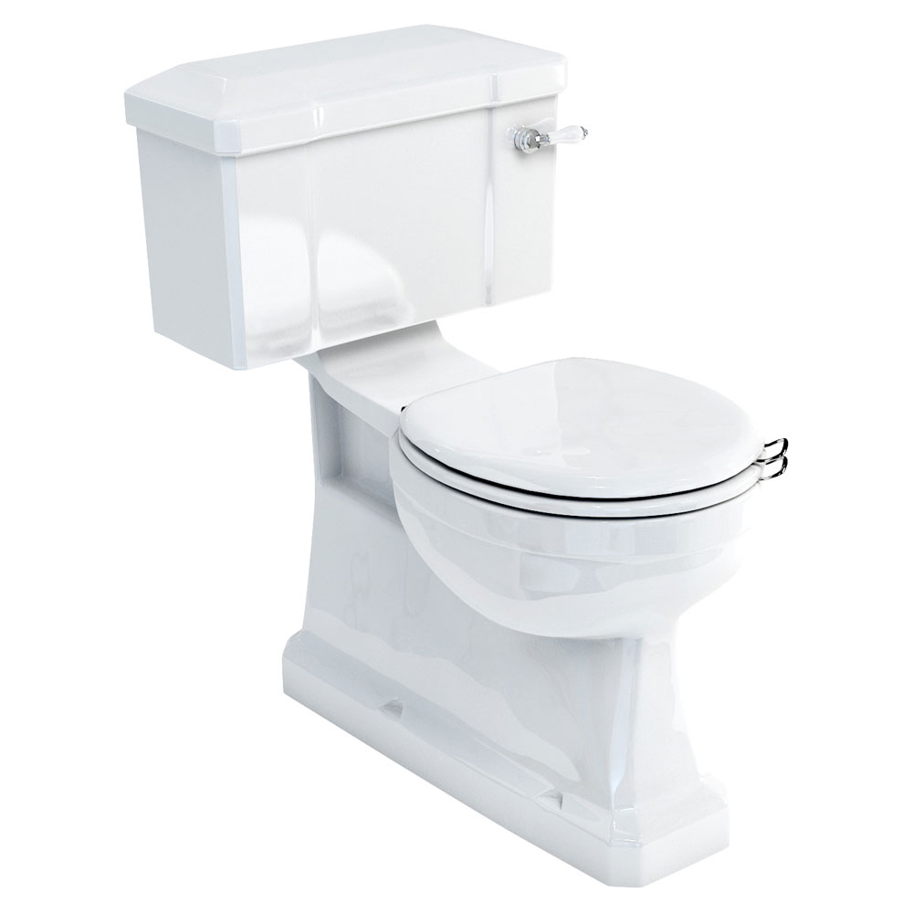 Burlington Concealed S Trap Close-Coupled WC with Lever Flush profile large image view 1