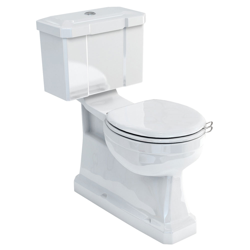 Burlington Concealed Bottom Outlet Close-Coupled WC with Push Button Flush Large Image