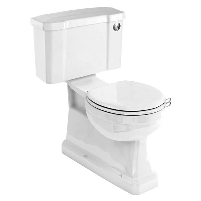 Burlington Concealed S Trap Bottom Outlet Close-Coupled WC with 520mm Push Button Cistern