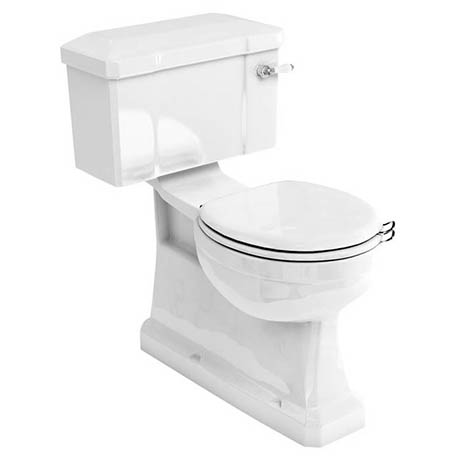 Burlington Concealed S Trap Bottom Outlet Close-Coupled WC with 440mm Ceramic Lever Cistern