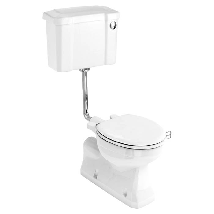 Burlington Concealed S Trap Bottom Outlet Low-Level WC with 520mm Push Button Cistern