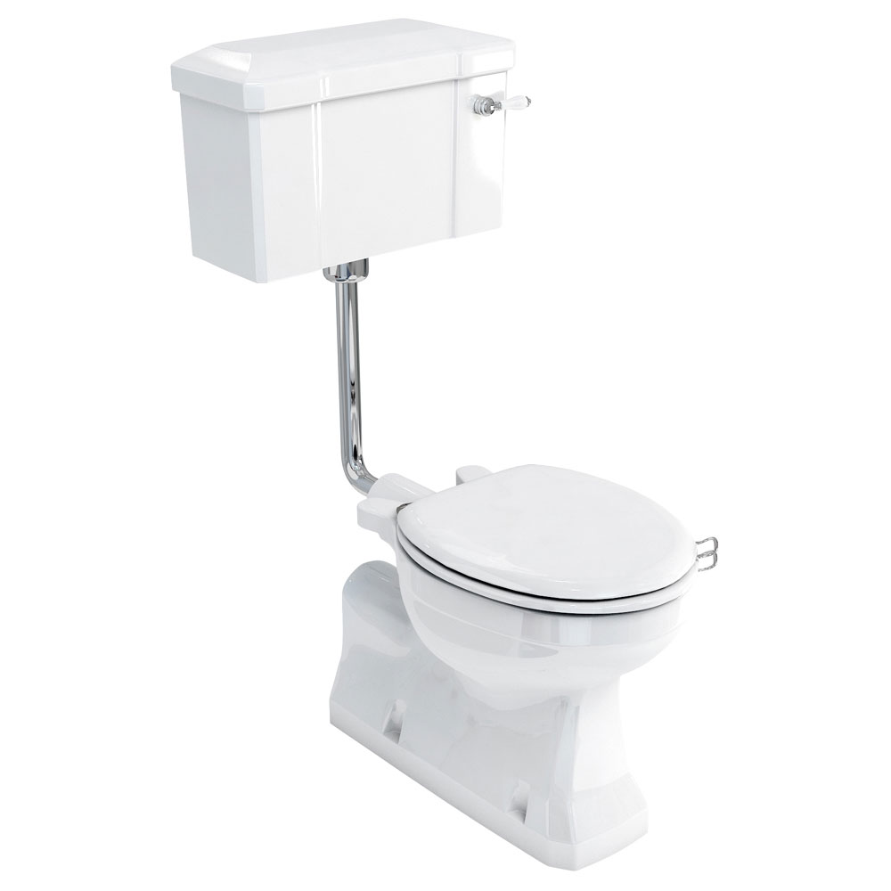 Burlington Concealed Bottom Outlet Low-Level WC with Lever Flush profile large image view 1
