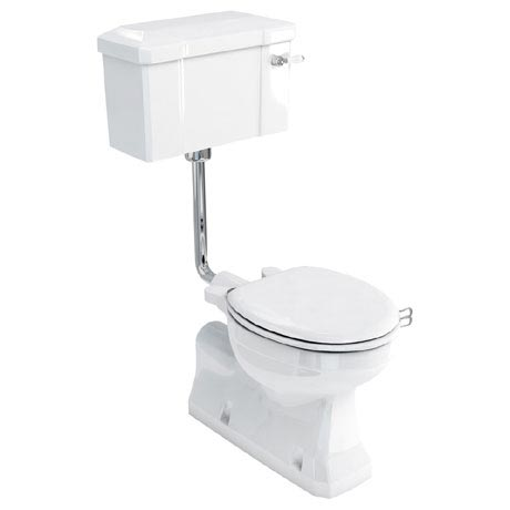 Burlington Concealed Bottom Outlet Low-Level WC with Lever Flush