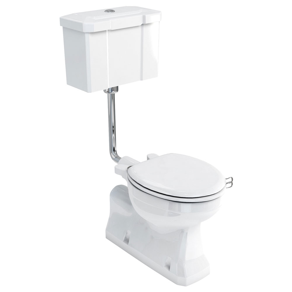 Burlington Concealed Bottom Outlet Low-Level WC with Push Button Flush profile large image view 1