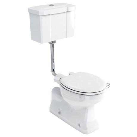 Burlington Concealed Bottom Outlet Low-Level WC with Push Button Flush