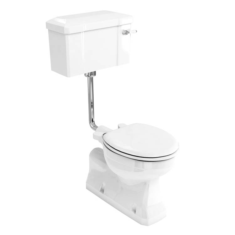 Burlington Concealed S Trap Bottom Outlet Low-Level WC with 440mm Ceramic Lever Cistern