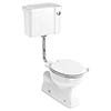 Burlington Concealed S Trap Bottom Outlet Low-Level WC with 440mm Push Button Cistern profile small image view 1