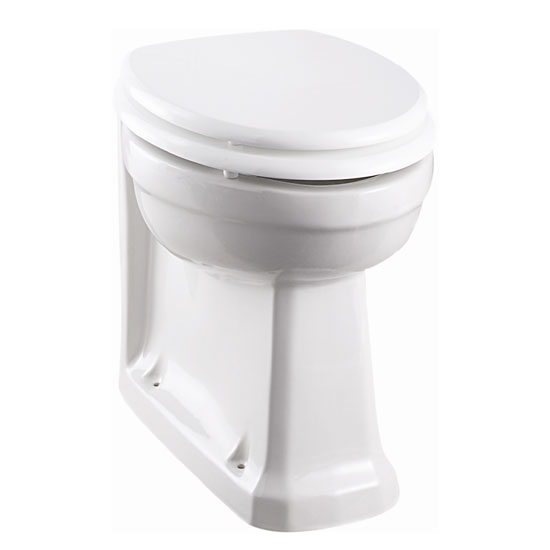 Burlington Back to Wall Pan with Gloss White Seat Large Image