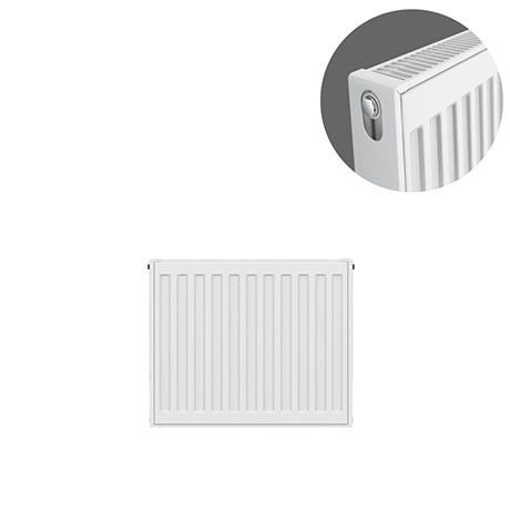 Type 21 H400 x W400mm Double Panel Single Convector Radiator - P404K
