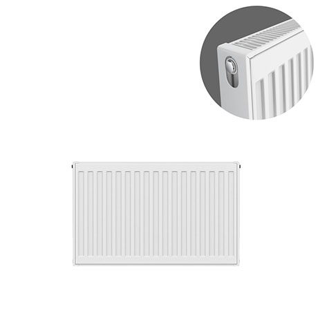 Type 21 H400 x W600mm Double Panel Single Convector Radiator - P406K