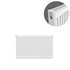 Type 21 H400 x W600mm Double Panel Single Convector Radiator - P406K profile small image view 1