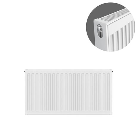 Type 21 H400 x W700mm Double Panel Single Convector Radiator - P407K