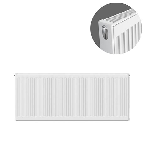 Type 21 H400 x W900mm Double Panel Single Convector Radiator - P409K