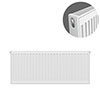 Type 21 H400 x W900mm Double Panel Single Convector Radiator - P409K profile small image view 1