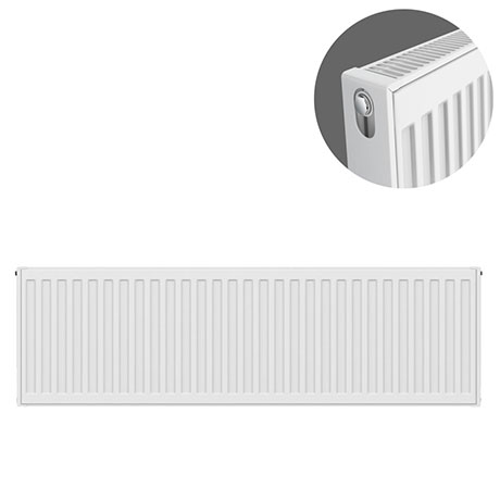 Type 21 H400 x W1000mm Double Panel Single Convector Radiator - P410K