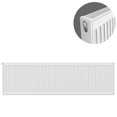 Type 21 H400 x W1100mm Double Panel Single Convector Radiator - P411K
