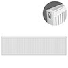 Type 21 H400 x W1200mm Double Panel Single Convector Radiator - P412K profile small image view 1