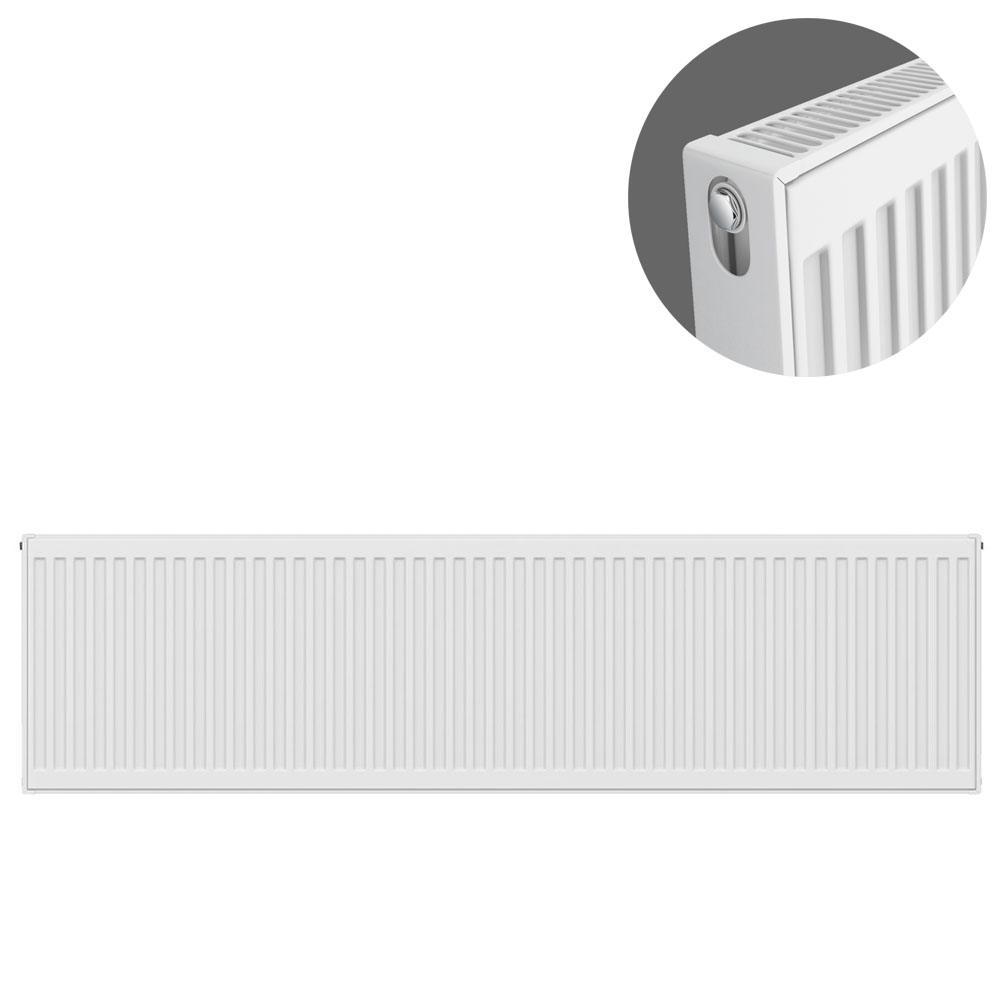 Type 21 H400 x W1600mm Double Panel Single Convector Radiator - P416K