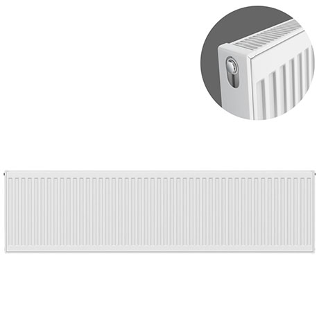 Type 21 H400 x W1800mm Double Panel Single Convector Radiator - P418K