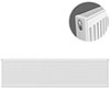 Type 21 H400 x W1800mm Double Panel Single Convector Radiator - P418K profile small image view 1