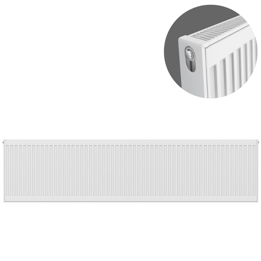 Type 21 H400 x W2200mm Double Panel Single Convector Radiator - P422K