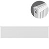 Type 21 H400 x W2200mm Double Panel Single Convector Radiator - P422K profile small image view 1
