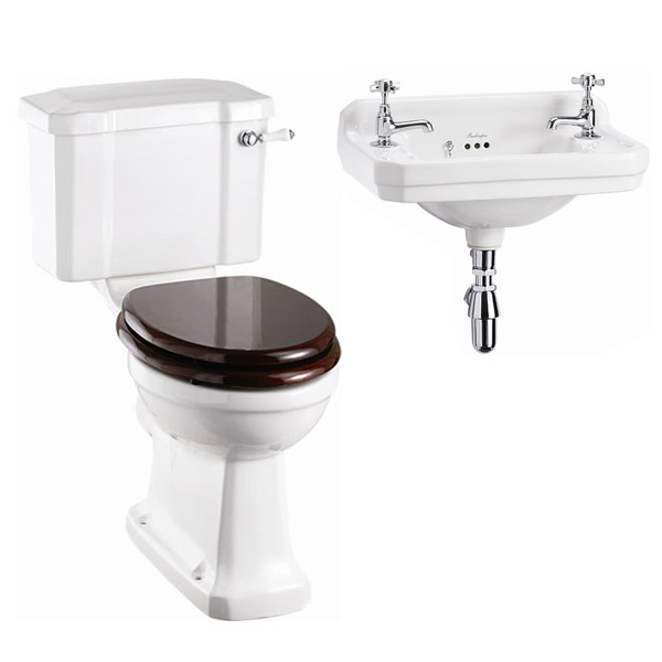 Burlington Cloakroom Slimline Toilet W Edwardian Wall