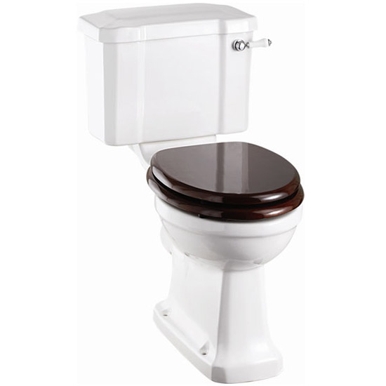 Burlington Cloakroom Slimline Toilet + Edwardian Wall Mounted 2TH Basin profile large image view 2