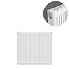 Type 21 H500 x W400mm Double Panel Single Convector Radiator - P504K profile small image view 1