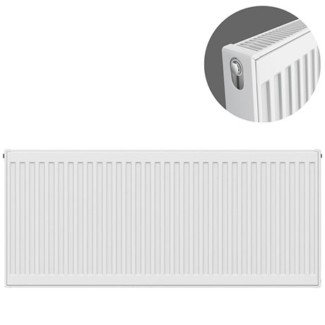 Type 21 H500 x W1100mm Double Panel Single Convector Radiator - P511K