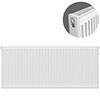 Type 21 H500 x W1100mm Double Panel Single Convector Radiator - P511K profile small image view 1