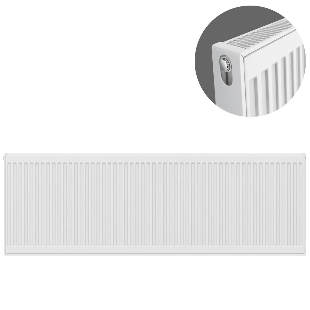 Type 21 H500 x W1800mm Double Panel Single Convector Radiator - P518K