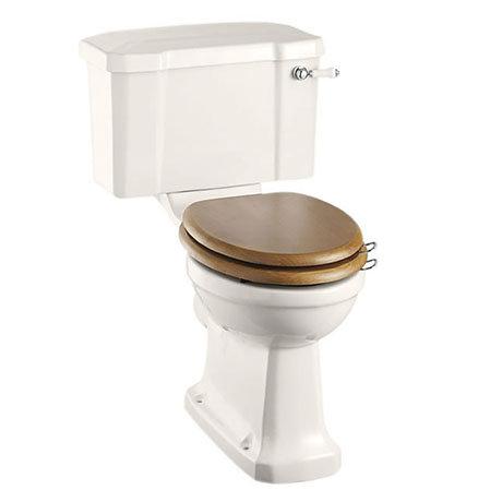 Burlington Medici Close Coupled Traditional Toilet - Ceramic Lever Flush